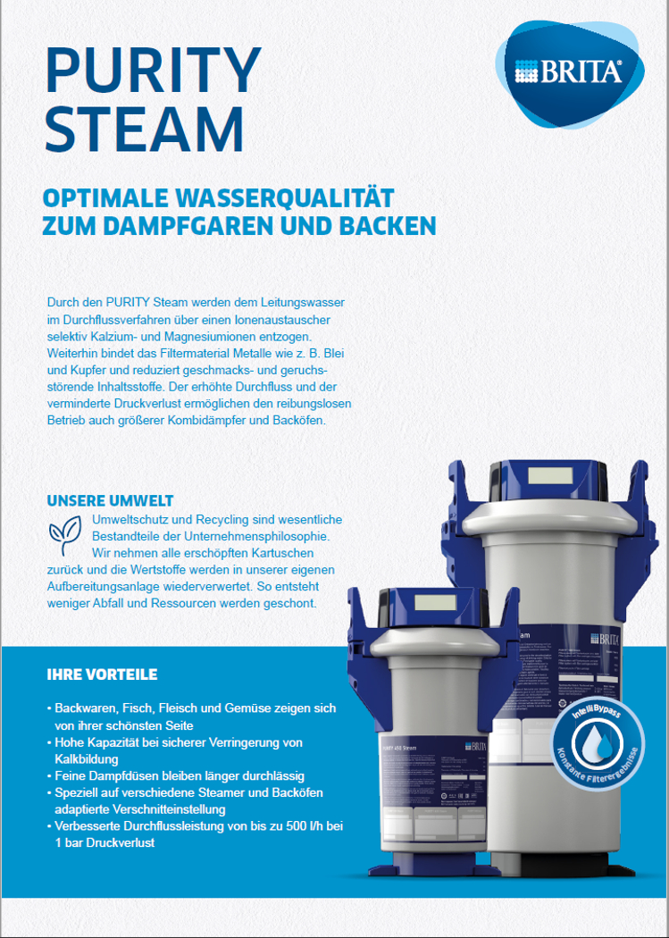 Datenblatt Purity Steam